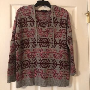 American Eagle Outfittrs Hooded Aztec Sweater NWOT
